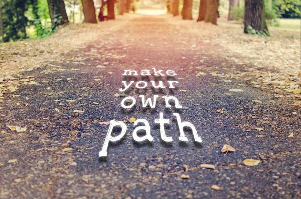 自分の道を歩け